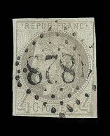 N°41B - Petites Marges - B/TB - 1870 Bordeaux Printing