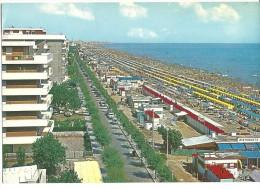 ! - Emilie-Romagne - Riccione - Promenade Le Long De La Mer Et Plage - Carte Postale Vierge - Italie