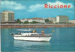 ! - Emilie-Romagne - Riccione - Promenade En Canot - Carte Postale Vierge - Italie
