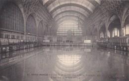 PARIS Inondé VII° Intèrieur De La GARE D' ORSAY Sous L' EAU Editeur NOYER N° 87 Inondations SEINE 1910 - District 07