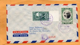 Costa Rica 1951 Cover Mailed To USA - Costa Rica