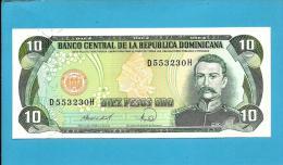 DOMINICAN REP. - 10 PESOS ORO - 1988 - Pick 119.c - UNC. - 2 Scans - República Dominicana
