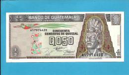 GUATEMALA - 1/2 QUETZAL - 27.09.1994 - P 86 - 2 Scans - Guatemala