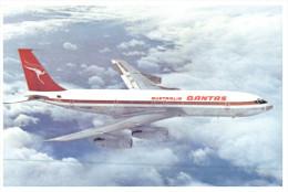 (PH 543) Australia - QANTAS Boeing 707 + 747B (2 Postcards) - 1946-....: Moderne