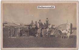 83 Saint-raphaël Rare Carte Photo Marins Et Aviateurs Sur Leur Avion Breguet Bre 14 (circulé En 1924-voir Scan-recto-ver - Saint-Raphaël