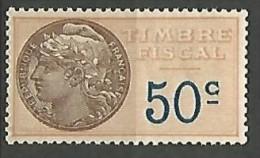 FISCAL /  N° 15 NEUF** SANS CHARNIERE / MNH - Steuermarken
