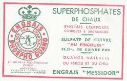 SUPERPHOSPHATES De CHAUX  - ENGRAIS MESSIDOR - Usine LA ROCHELLE -PALLICE-SURGERES-LA ROCHE S/YON - Agriculture