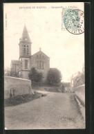 CPA Mantes, Gargenville, L'Eglise, Partie Avec L'Église - Gargenville