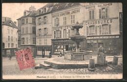 CPA Mantes, La Fontaine De L'hôtel De Ville - Non Classés
