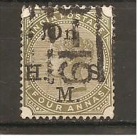 India Inglesa -  Nº Yvert Servicio 33 (usado) (o) - 1882-1901 Imperio