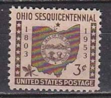 H1257 - ETATS UNIS UNITED STATES Yv N°569 ** OHIO - Stati Uniti