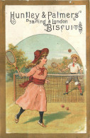 CHROMO  Biscuits HUNTLEY PALMERS  Tennis    2 Scans - Confiserie & Biscuits