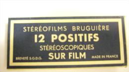 BRUGUIÈRE STÉRÉOFILMS 12 POSITIFS        PARIS    ( 3 ) - Stereoskope - Stereobetrachter