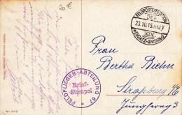 """FLIEGER-ABTEILUNG 67"" + TàD F.P.E. XIX ERSATZ DIVISION Du 23.10.15 Sur CP Fantaisie - Guerra De 1914-18"