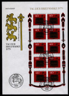 A3186) Bund FDC Kleinbogen Tag Der Briefmarke 1979 - BRD