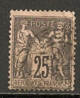 Timbres - France - 1884-1890 - 25 C. - N° 97 -