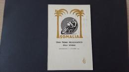 Italy 1953 Somalia Gran Premio Motociclistico Della Somalia Souvenir Cover - 6. 1946-.. Republic