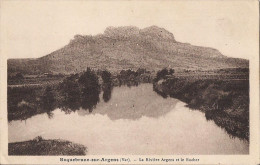 CPA PEU COMMUNE ROQUEBRUNE SUR ARGENS LA RIVIERE ARGENS ET LE ROCHER - Roquebrune-sur-Argens