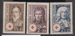 FINLANDE    1936              N°   186 / 188       COTE      6 € 50              ( Y 72 ) - Finlande