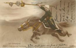 14-18 . LE COSAQUE . RETOUR D'UNE CHARGE HEUREUSE . - Guerre 1914-18