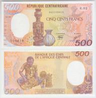 Central African Republic 500 Francs (1987) Pick 14c UNC - Centrafricaine (République)