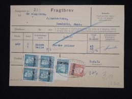 """DANEMARK - Timbre Surchargé """" Postf Aerge """" Sur Document En 1962 - - à Voir - Lot P8043 - Brieven En Documenten"""