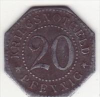 Notgeld - Monnaie De Necessité - Guerre 14-18 - Schwarzburg - 20 Pf - Monétaires/De Nécessité