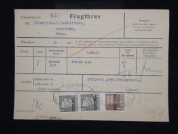 """DANEMARK - Timbre Surchargé """" Postf Aerge """" Sur Document En 1962 - - à Voir - Lot P8044 - Brieven En Documenten"""