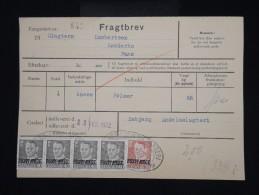 """DANEMARK - Timbres Surchargés  """" Postf Aerge """" Sur Document En 1962 - - à Voir - Lot P8045 - Brieven En Documenten"""