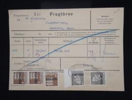 """DANEMARK - Timbres Surchargés  """" Postf Aerge """" Sur Document En 1962 - - à Voir - Lot P8046 - Brieven En Documenten"""