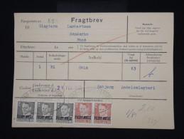 """DANEMARK - Timbres Surchargés  """" Postf Aerge """" Sur Document En 1962 - - à Voir - Lot P8047 - Brieven En Documenten"""