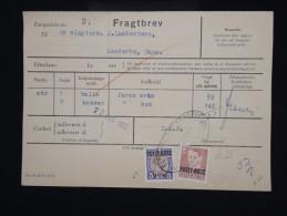 """DANEMARK - Timbres Surchargés  """" Postf Aerge """" Sur Document En 1962 - - à Voir - Lot P8048 - Brieven En Documenten"""