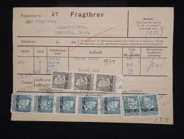 """DANEMARK - Timbres Surchargés  """" Postf Aerge """" Sur Document En 1962 - - à Voir - Lot P8049 - Brieven En Documenten"""