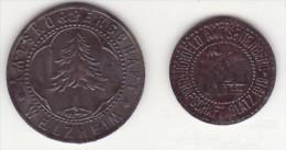 Notgeld - Monnaie De Necessité - Guerre 14-18 - Welzhiem, 50pf - Settenberg 5pf - Monétaires/De Nécessité
