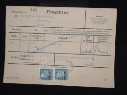 """DANEMARK - Timbres Surchargés  """" Postf Aerge """" Sur Document En 1962 - - à Voir - Lot P8050 - Brieven En Documenten"""