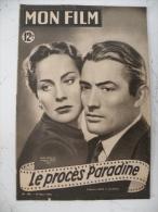 Mon Film, Alida Valli - Grégory Peck Dans Le Procès Paradine, N°188, 12.3.1950 Complet 15 Pages - Cinema