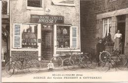 BELLOU - en - HOULME  -  DEVANTURE BRISSET Agence des cycles Peugeot et Cottereau - RARE