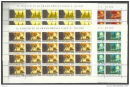 1990 Vaticano Vatican VIAGGI DEL PAPA  JOURNEYS OF THE POPE 20 Serie Aeree Di 4v. In Foglio MNH** Air Mail - Posta Aerea