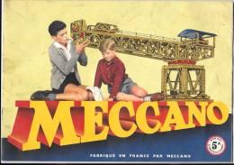 MECCANO : Manuel D'instructions De La Boite 5 A, Fabriqué En France, 1957 - Meccano
