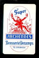 Speelkaart ( 942 ) Dos D´ Une Carte à Jouer - Bier Bière Bieren Bières Brasserie Brouwerij - Archennes Decamps - Barajas De Naipe