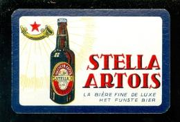 Speelkaart ( 943 ) Dos D´ Une Carte à Jouer - Bier Bière Bieren Bières Brasserie Brouwerij -  Stella Artois  Leuven - Barajas De Naipe