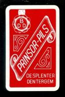 Speelkaart ( 944 ) Dos D´ Une Carte à Jouer - Bier Bière Bieren Bières Brasserie Brouwerij - PRINSOR Despenter Dentergem - Barajas De Naipe