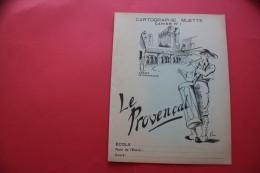 RARE VINTAGE 1950 PROTEGE CAHIER  ILLUSTRATION ABBAYE DE MONTMAJOUR LE PROVENCAL CARTOGRAPHIE MUETTE CAHIER N° 1 Protége - Coberturas De Libros