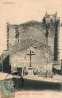 34 CAPESTANG  Entrée De L'Eglise Place De La Mairie - Capestang