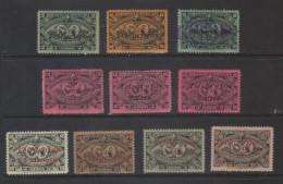 Guatemala  Central American Exhibition Overprinted Telegrafos Stamps. - Guatemala