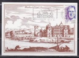 = Carte Postale Maison De Vimy Près Lyon Flamme Annonce 333ème Foire 1er Mai Neuville Sur Saône 13.3.90 N°2634 De Gaulle - Mechanische Stempels (reclame)