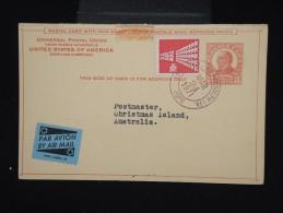 ETATS UNIS - Entier Postal Avec Réponse ( Séparée ) Pour Les Iles Christmas En 1971 - à Voir - Lot P7976