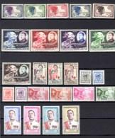 Séries Complètes 1952-1960 Entre  Yv.  13 Et 92 **,  Cote 73 €, - Laos