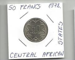C2 Central African States 50 Francs 1978. - Monnaies