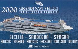 2000 GRANDI NAVI VELOCI GRIMALDI GROUP - Calendari
